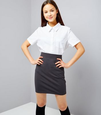 Teens Grey Tube Skirt