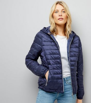 Navy Lightweight Puffer Jacket