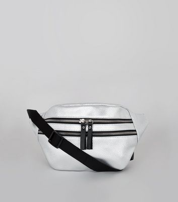 Silver Double Zip Bumbag
