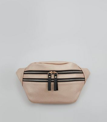 Rose Gold Double Zip Bumbag