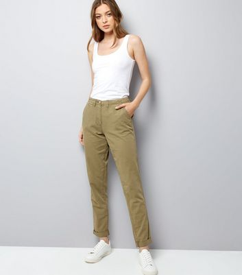 Tall Khaki Roll Up Chinos