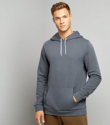 Dark Grey Pocket Front Hoodie