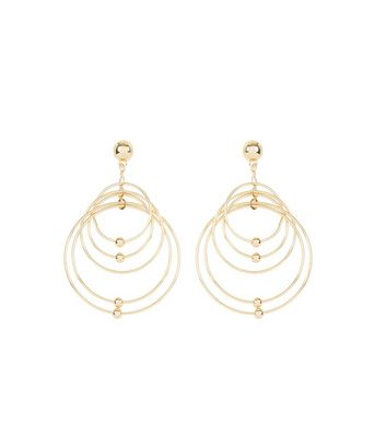 Gold Layered Ring Earrings