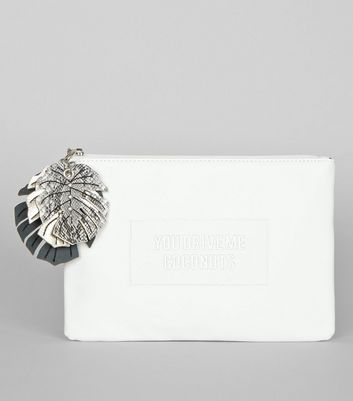 White You Drive Me Coconuts Clutch Bag