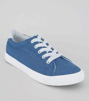 Teenager – Blaue Denim-Sneaker