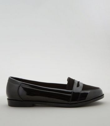 Teens Black Patent School Loafers