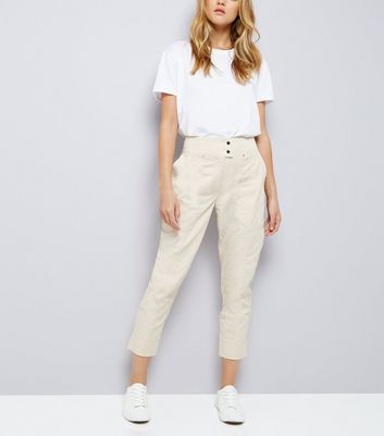 Stone Cropped Trousers