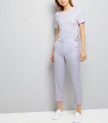 Lilac Cropped Trousers