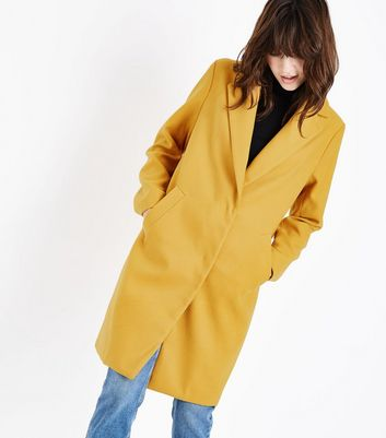 Yellow Longline Collared Coat
