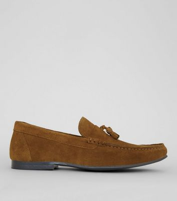 Tan Suede Tassle Loafers