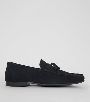Navy Suede Tassle Loafers