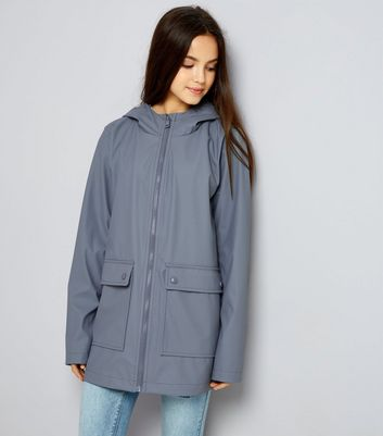Teens Grey Matte Anorak