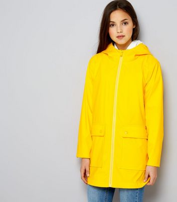Teens Yellow Matte Anorak