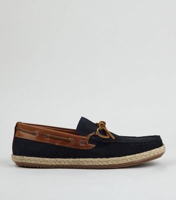 Marineblaue Espadrilles-Loafers aus Wildleder