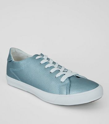 Blue Metallic Trainers
