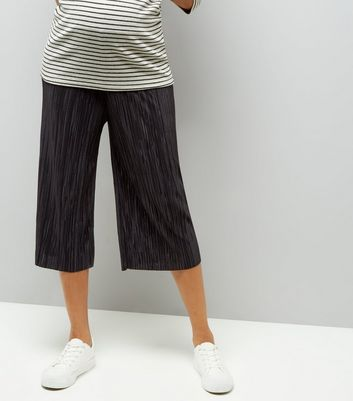 Maternity Black Pleated Culottes