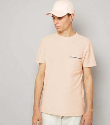 Pink Zip Detail T-Shirt