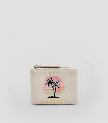 Nude Pink Tequila Sunrise Embroidered Purse