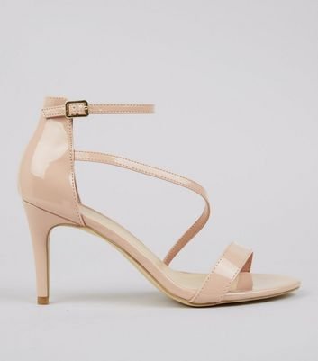 Pink Patent Strappy Heeled Sandals