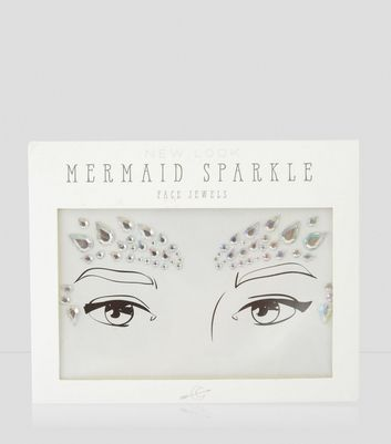 Silver Holographic Mermaid Face Jewels