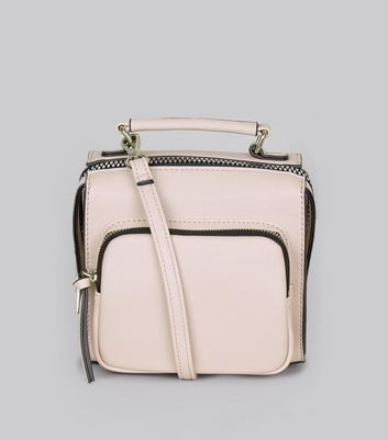 Lilac Chunky Zip Pocket Cross Body Bag