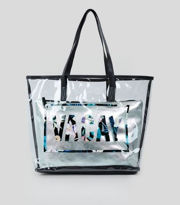 Transparent Vacay Shopper Bag