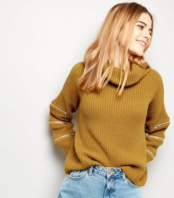 Cameo Rose Yellow Zip Sleeve Jumper