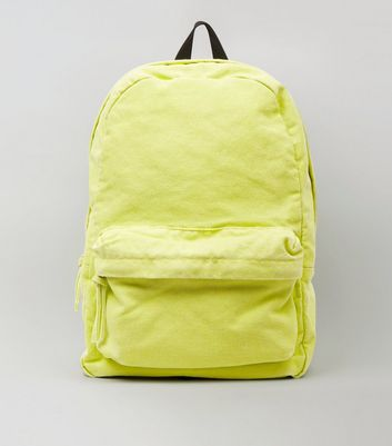 Lime Canvas Backpack