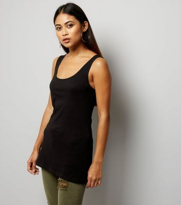Petite Black Scoop Neck Vest