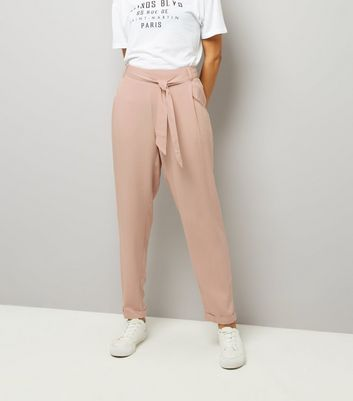 Tall Pink Tie Waist Trousers