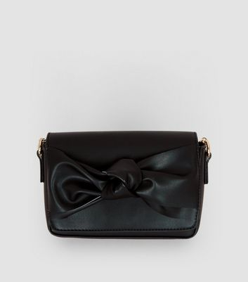 Black Bow Front Clutch Bag