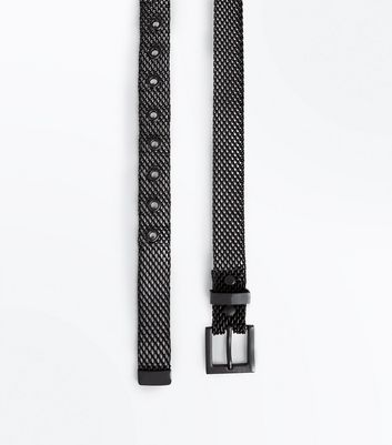 Black Metal Jeans Belt
