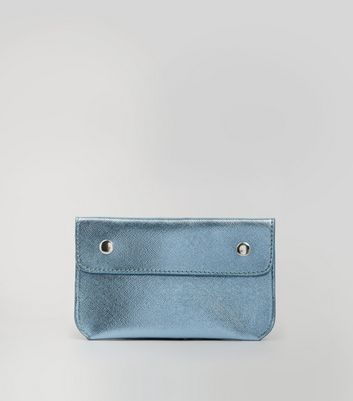 Pale Blue Double Pouch Purse Belt