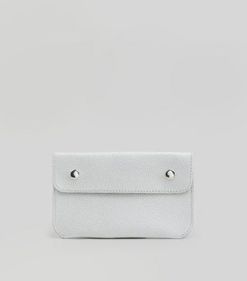 Silver Double Pouch Purse Belt