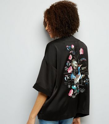 Black Bird Embroidered Blazer