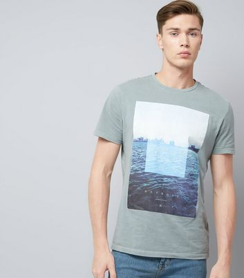 Grey Detroit Graphic Print T-Shirt