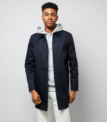 Navy Button Front Mac