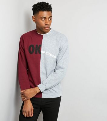 Burgundy Spliced Sweater