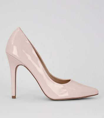 Pink Patent Pointed Court Shoe