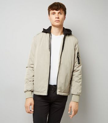 Stone Contrast Hooded Jacket
