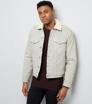 Off White Borg Lined Denim Jacket | New Look