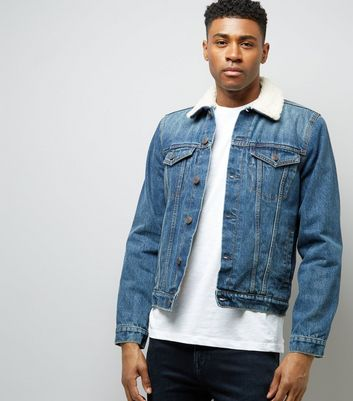Blue Borg Lined Denim Jacket
