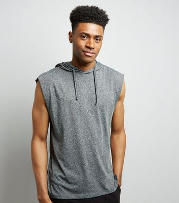 Light Grey Sleeveless Hoodie
