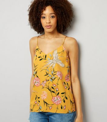 Tall Yellow Floral Print Cami