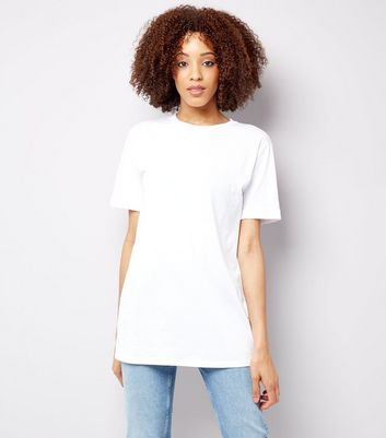 Tall - T-shirt blanc longueur XL