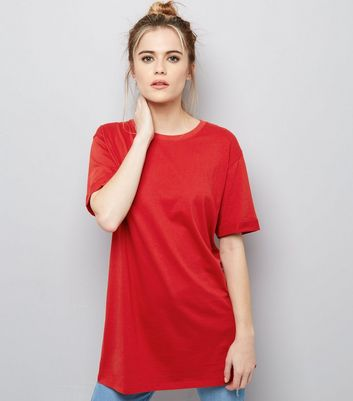 Tall - T-shirt longueur XL rouge
