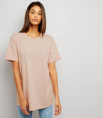 Tall - T-shirt oversize rose pâle