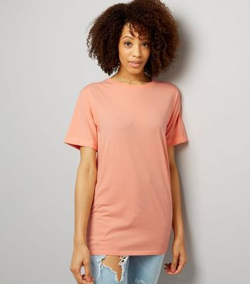 Tall Coral Oversized T-Shirt