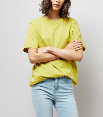 Tall Yellow Oversized T-Shirt
