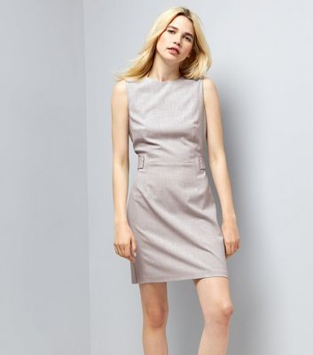 Light Grey Sleeveless Shift Dress